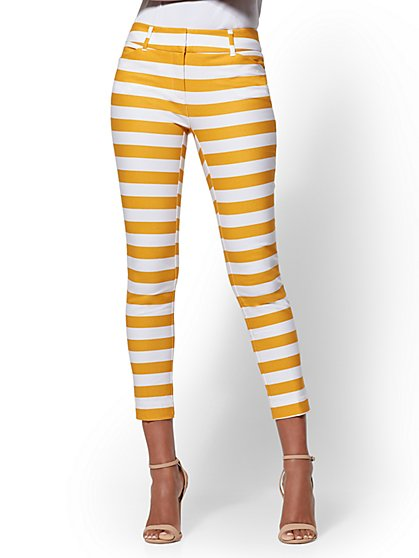 The Audrey Ankle Pant - Tall Slim Leg - Stripe - New York & Company