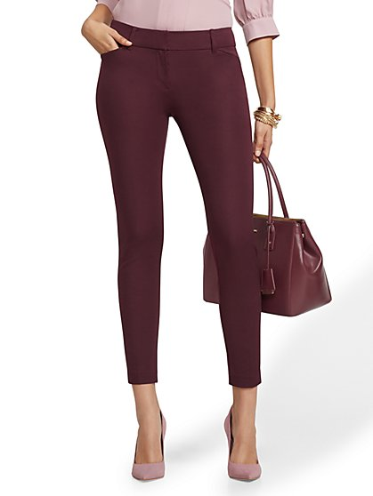 The Audrey Pant - Burgundy - New York & Company