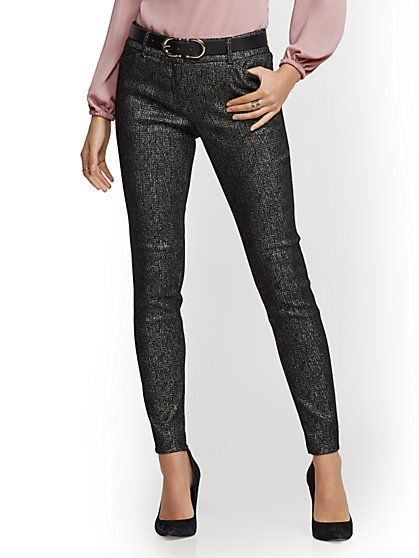 The Audrey Pant - Metallic Plaid - New York & Company