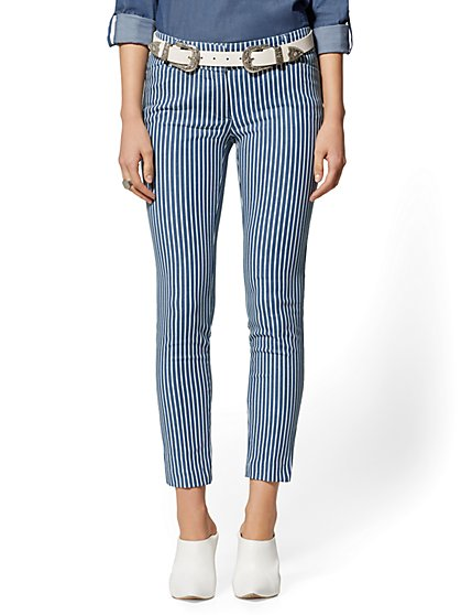 The Audrey Pant - Slim Leg - Stripe Denim - New York & Company