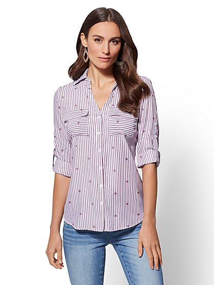 The Kate Shirt - Dot & Stripe - New York & Company