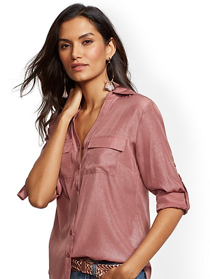The Kate Shirt - Metallic - New York & Company