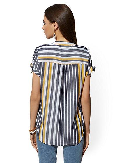 4c1307c7518b ... The Kate Shirt - Short-Sleeve - Two-Tone Stripe - New York ...