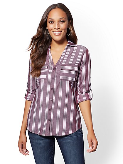 The Kate Shirt - Stripe - New York & Company