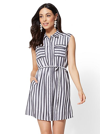 The Kate Striped Shirtdress - New York & Company