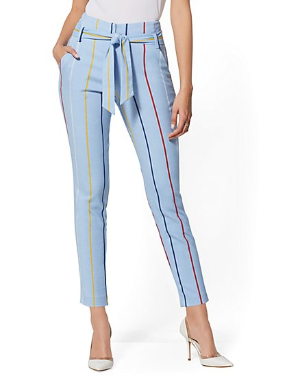 The Madie Pant - Rainbow Stripe - New York & Company