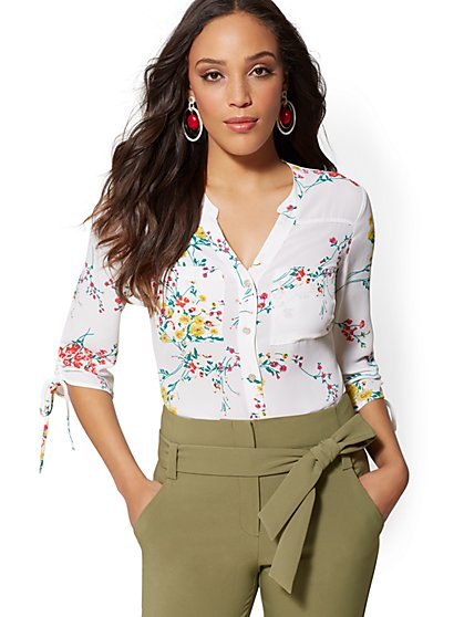 The Meghan Shirt - Floral - New York & Company