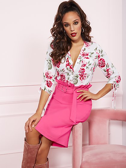 The Meghan Shirt - Rose Print - New York & Company