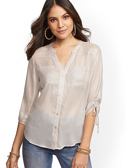 The Meghan Shirt - Shimmer Finish - New York & Company