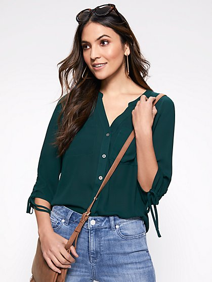 Green Blouses Shirts For Women Ny C