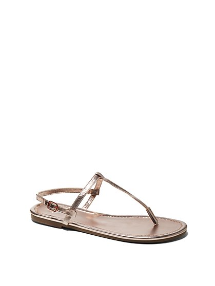 Thin-Strap Thong Sandal - New York & Company