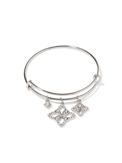 Three Floral Charm Bracelet - New York & Company