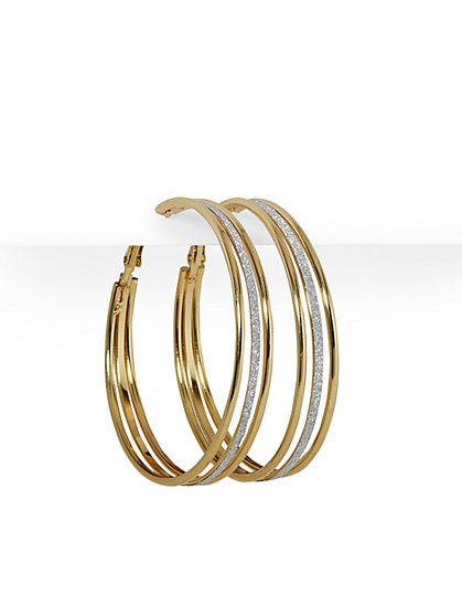 Three-Strand Hoop Earring - New York & Company