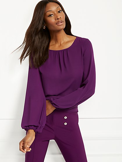 Tie-Back Draped Blouse - 7th Avenue - New York & Company