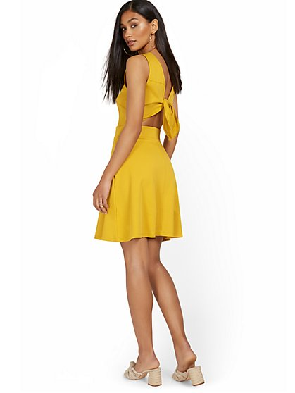 Tie-Back Dress - City Knits - New York & Company