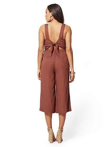 c8d9fb36085 ... Tie-Back Jumpsuit - Sienna Blush - Soho Jeans - New York   Company