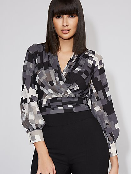 Tie-Back Wrap Blouse - Gabrielle Union Collection - New York & Company
