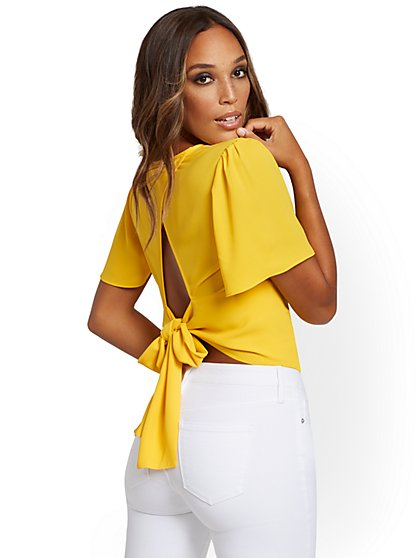 Tie-Back Wrap Blouse - New York & Company