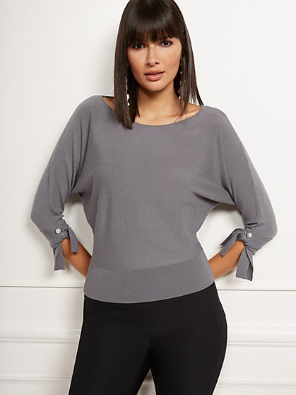 Tie-Cuff Dolman Sweater - New York & Company