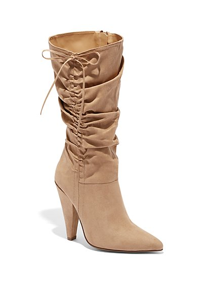 Tie-Detail Slouch Boot - New York & Company