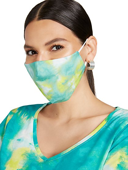 Tie-Dye Face Mask - New York & Company