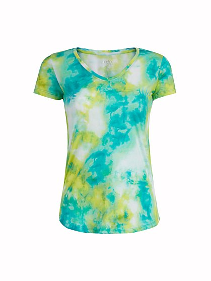Tie-Dye V-Neck Perfect Tee - New York & Company