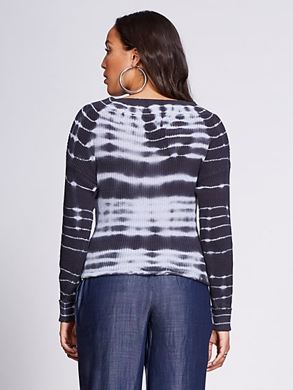 f00d2f2b3dae1 ... Tie-Dye V-Neck Sweater - Gabrielle Union Collection - New York   Company  ...