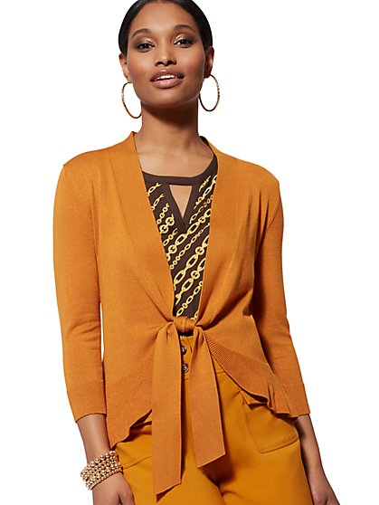 Tie-Front Cardigan - 7th Avenue - New York & Company