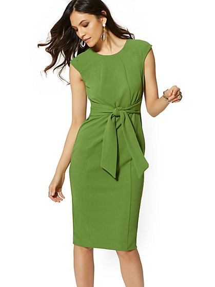 Tie-Front Sheath Dress - New York & Company