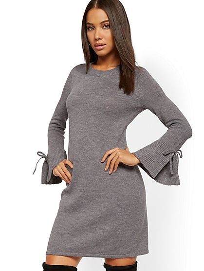Tie-Sleeve Sheath Sweater Dress - New York & Company