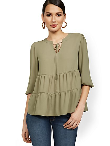 Tiered Babydoll Top - New York & Company