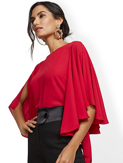 Tiered-Sleeve Dolman Blouse - New York & Company