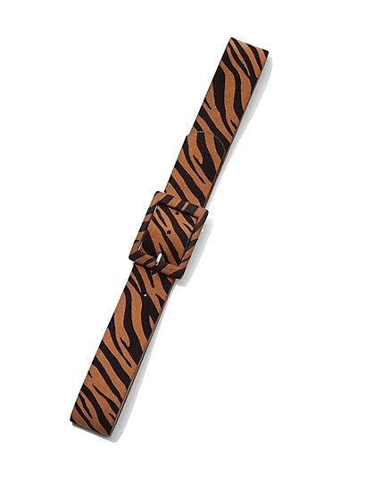 Tiger-Print Belt - Eva Mendes Collection - New York & Company