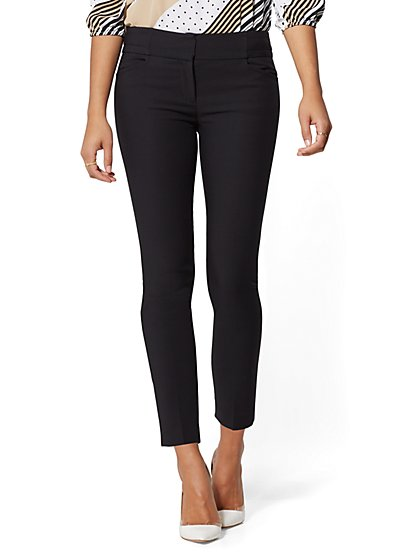 Topstitched Ankle Pant- All-Season Stretch - 7th Avenue - New York & Company
