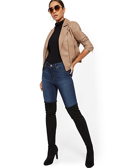 e6374d22a Faux Leather Jackets for Women | NY&C