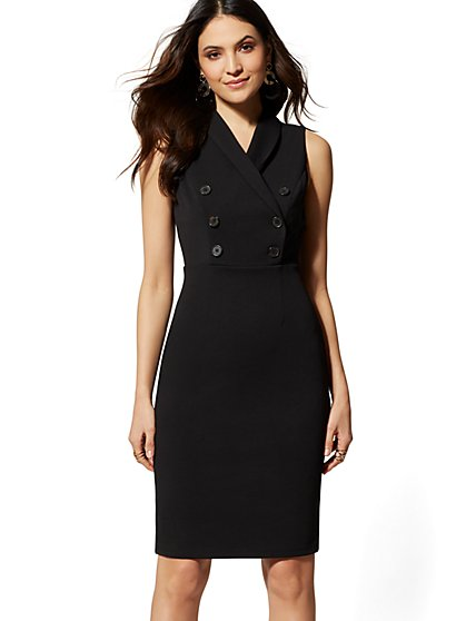 Trench Sheath Dress - Magic Crepe - 7th Avenue - New York & Company