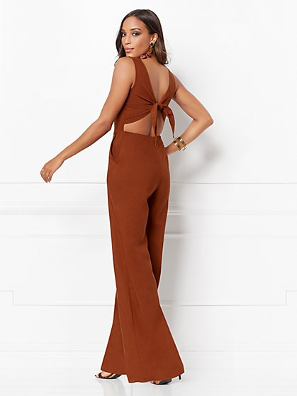 Trudie Tie-Back Jumpsuit - Eva Mendes Collection - New York & Company