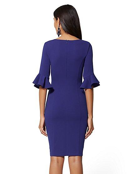 ... Tulip-Sleeve Sheath Dress - Magic Crepe - New York   Company ... 6866e279c