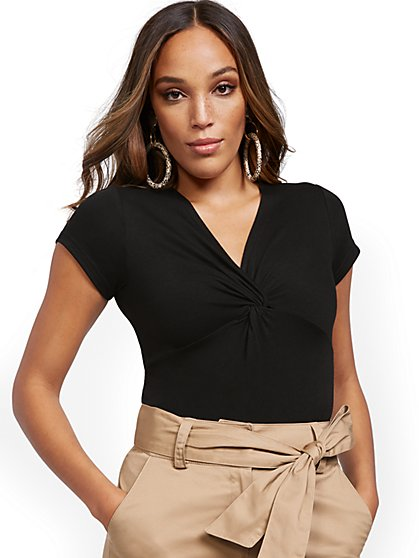 Twist-Front Bodysuit - New York & Company