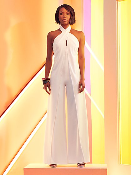 Twist-Front Jumpsuit - Gabrielle Union Collection - New York & Company
