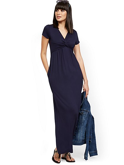Twist-Front Maxi Dress - New York & Company