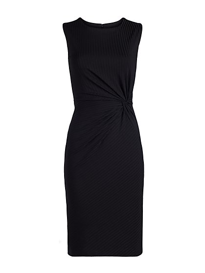 Twist-Front Sheath Dress - New York & Company