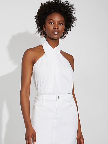 Twist-Neck Halter Blouse - Gabrielle Union Collection - New York & Company