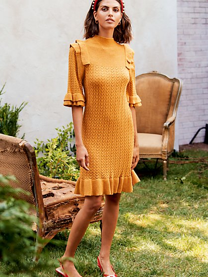 Twist Sweater Dress - New York & Company