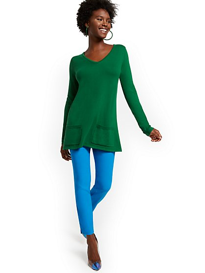 Two-Pocket Tunic Sweater - New York & Company