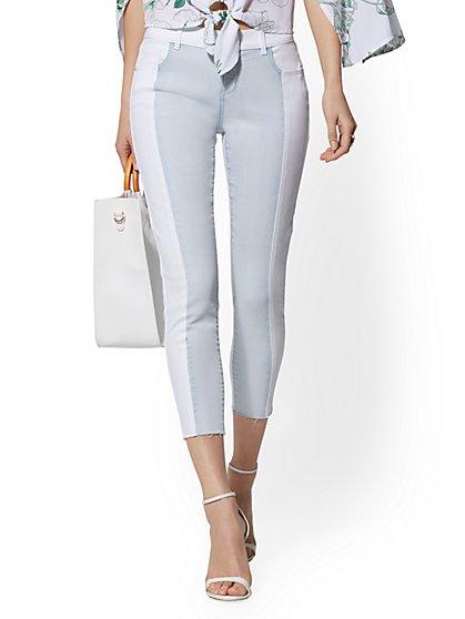 13997ccc68035 Two-Tone Crop Legging - Soho Jeans - New York & Company ...