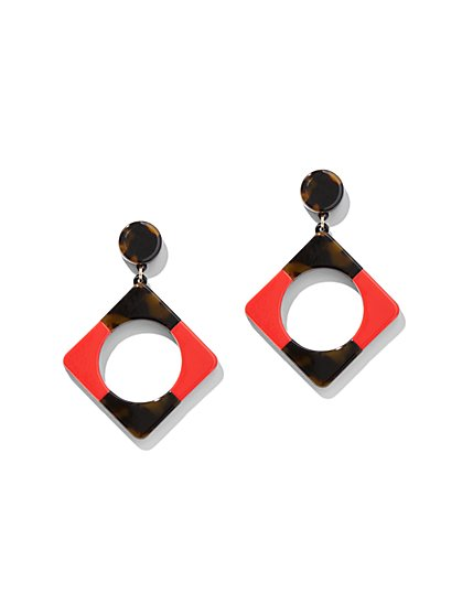 Two-Tone Open Square Drop Earring - New York & Company