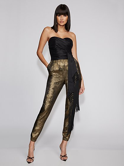 Two-Tone Strapless Jumpsuit - Gabrielle Union Collection - New York & Company