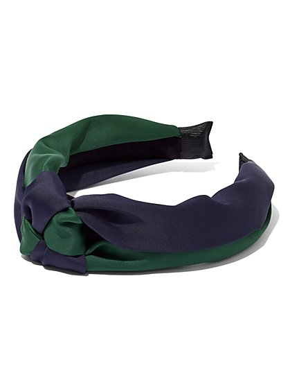 Two-Tone Top-Knot Headband - New York & Company