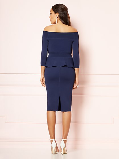 56abb972751 ... Ulrika Peplum Sweater - Eva Mendes Party Collection - New York   Company